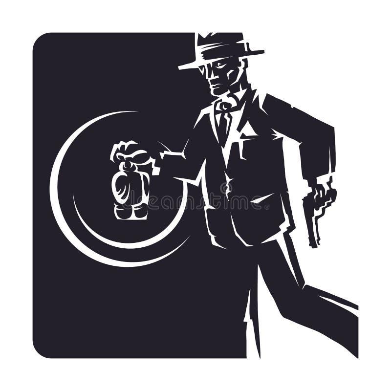 kriminalare vektor illustrationer