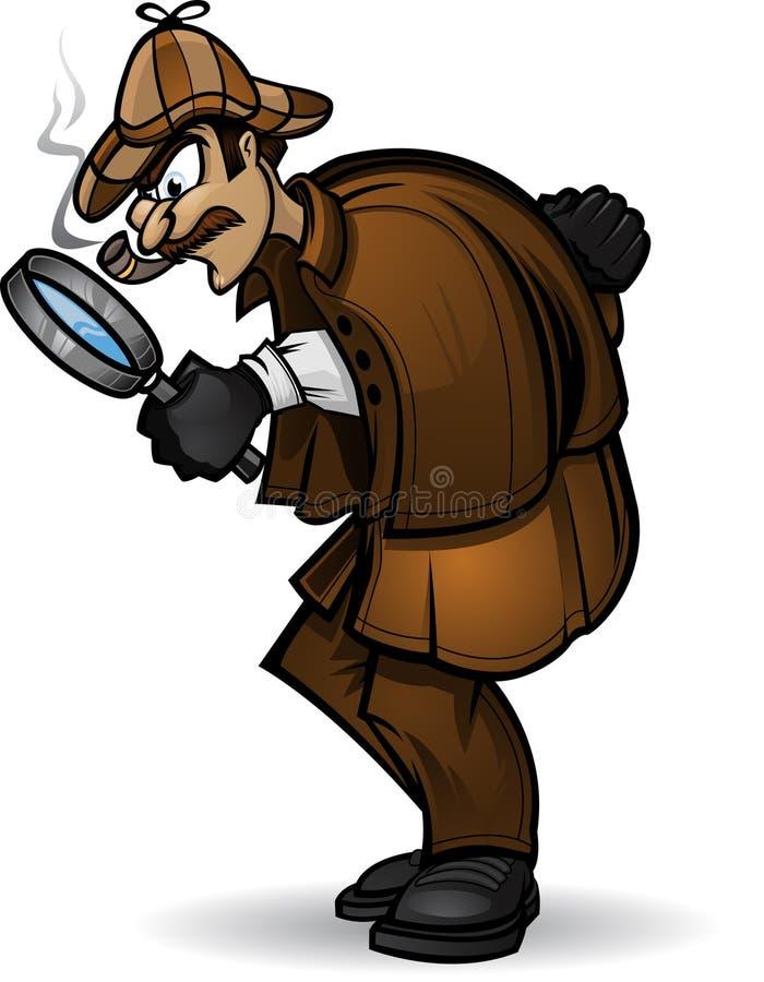 kriminalare stock illustrationer