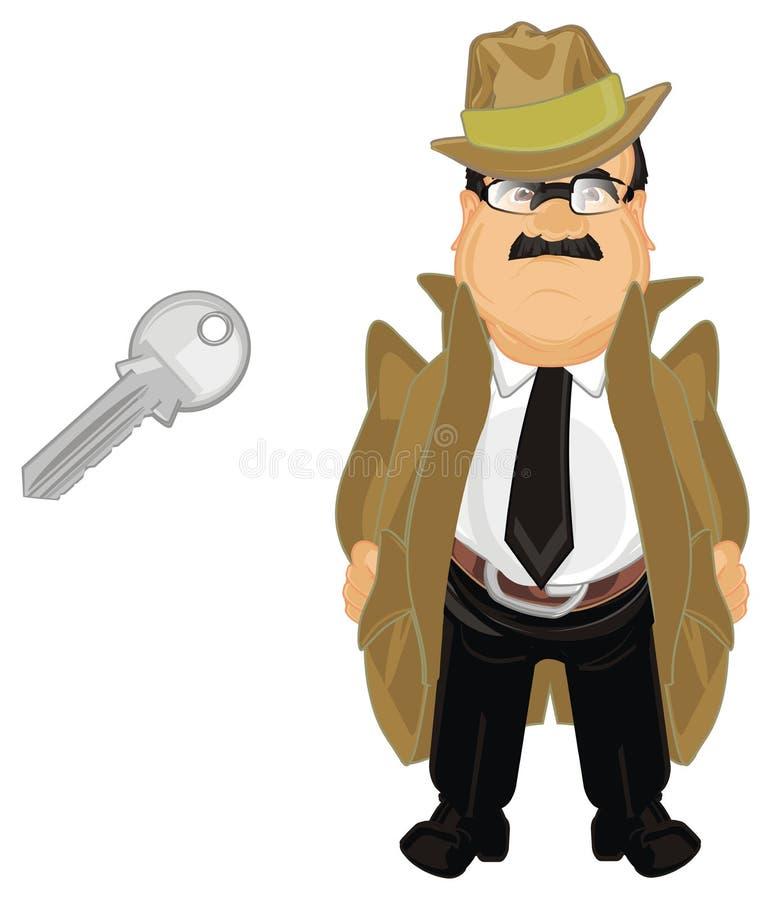 Kriminalare och tangent stock illustrationer