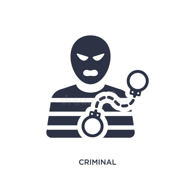 kriminelle Ikone auf weißem Hintergrund Einfache Elementillustration vom Gesetzes- und Gerechtigkeitskonzept vektor abbildung