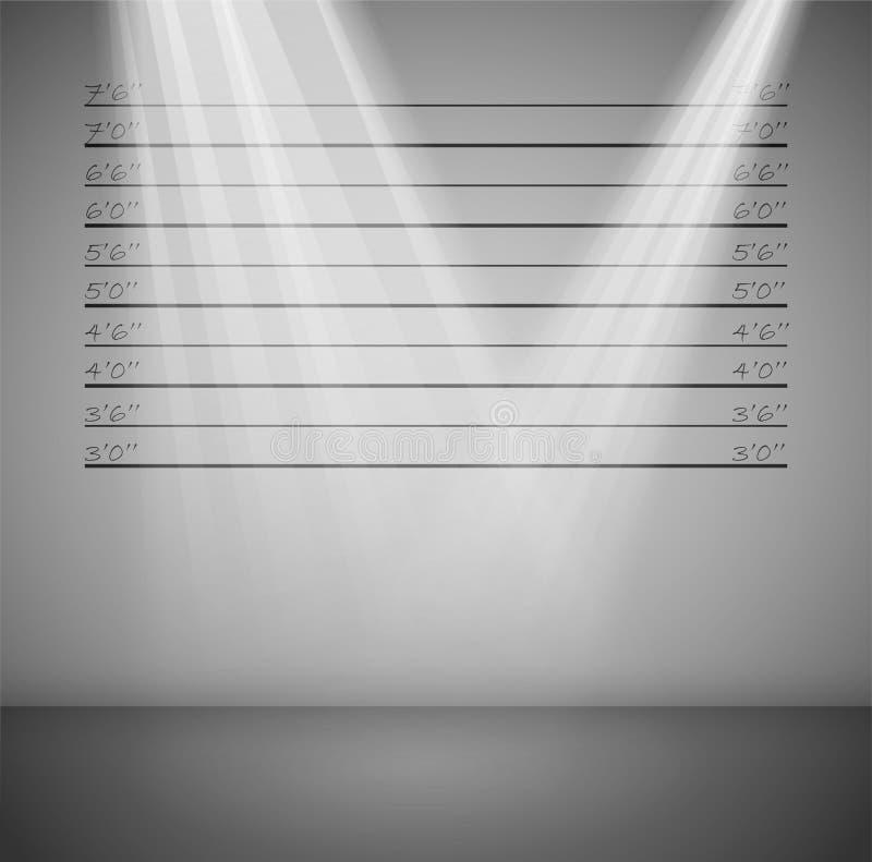 Krimineller Hintergrund mit Zeilen lizenzfreie abbildung