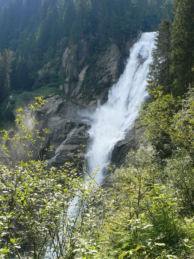 Krimml Wasserfälle in Österreich stockfotos