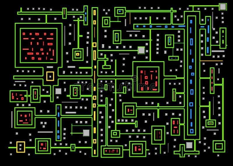 Kringen - Abstracte Achtergrond - Neonkleuren vector illustratie