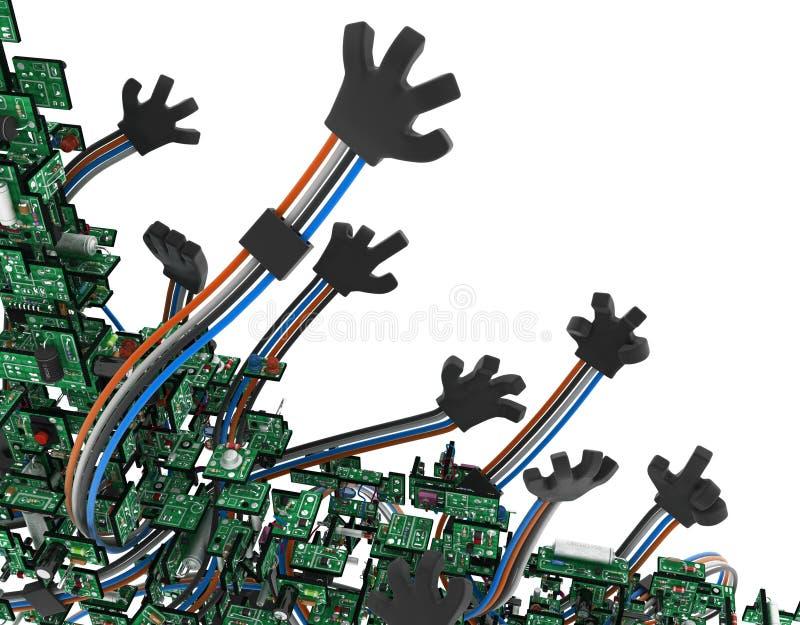Kringen Getelegrafeerde Wapens vector illustratie