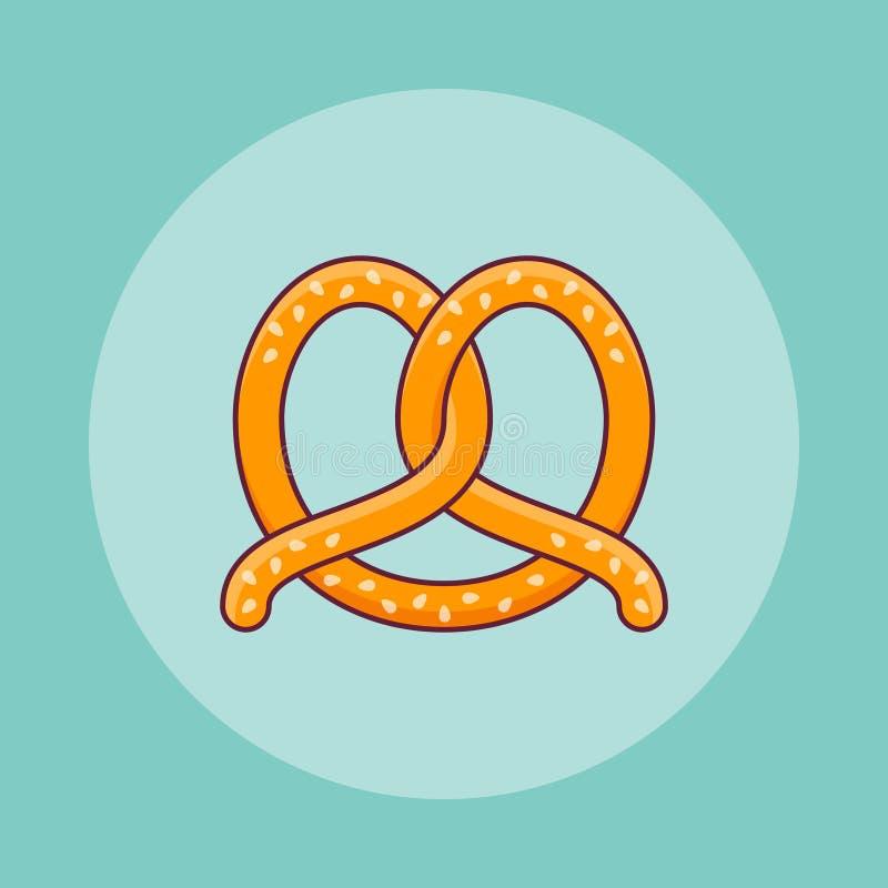 Kringlalägenhetlinje symbol också vektor för coreldrawillustration royaltyfri illustrationer