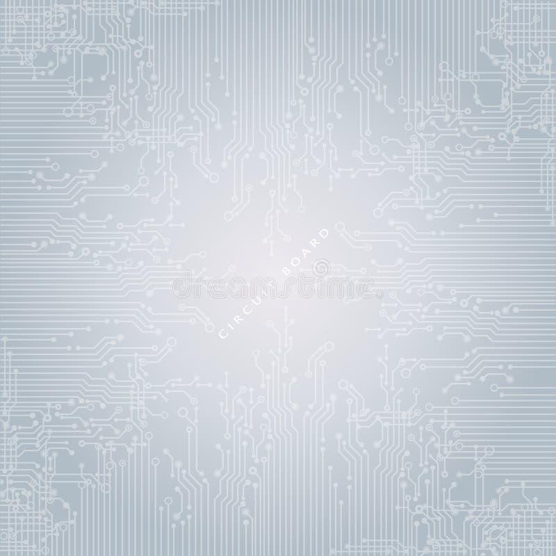 Kringsraad, technologieachtergrond Vector illustratie stock foto's