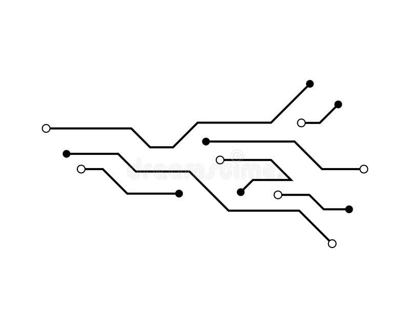 Kringstechnologie stock illustratie