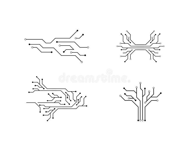 Kringstechnologie royalty-vrije illustratie