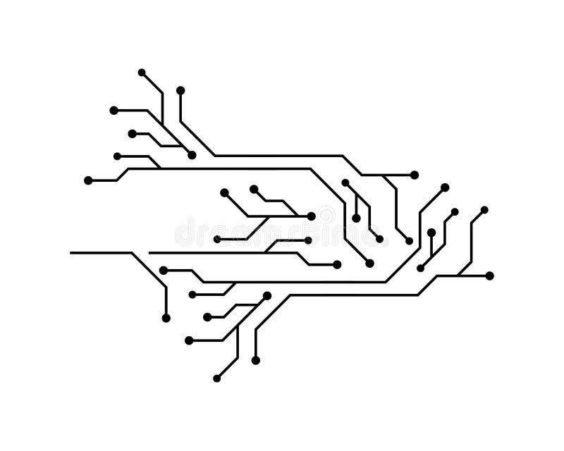 Kringstechnologie vector illustratie