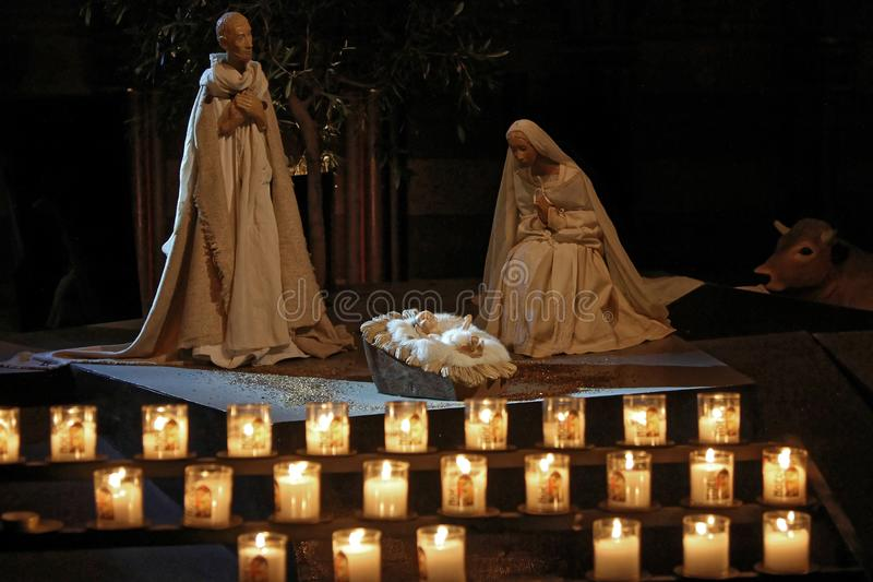 Krippe Notre Dame stockfoto