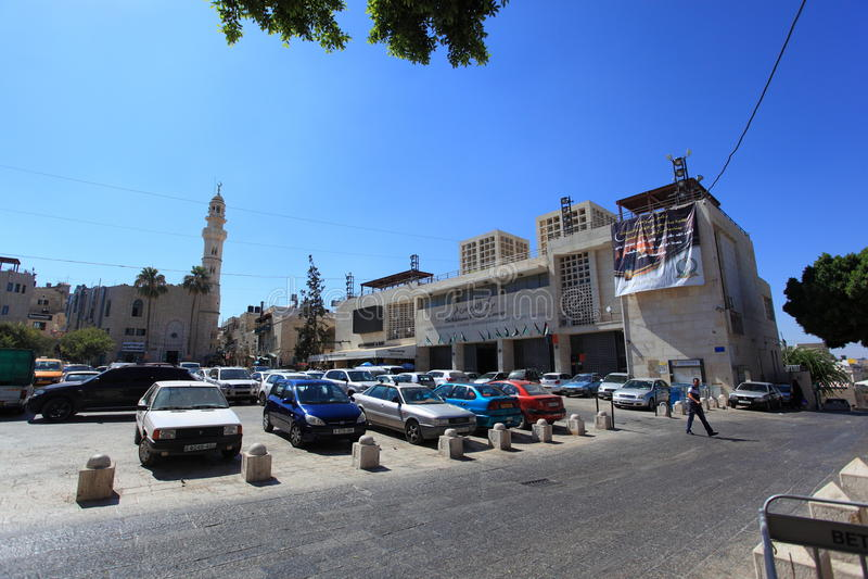Krippen-Quadrat, Stadtzentrum von Bethlehem lizenzfreie stockbilder