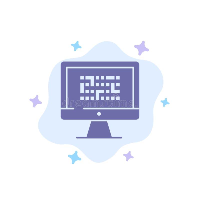 Kriptographie, Daten, Ddos, Verschlüsselung, Informationen, Problem-blaue Ikone auf abstraktem Wolken-Hintergrund stock abbildung