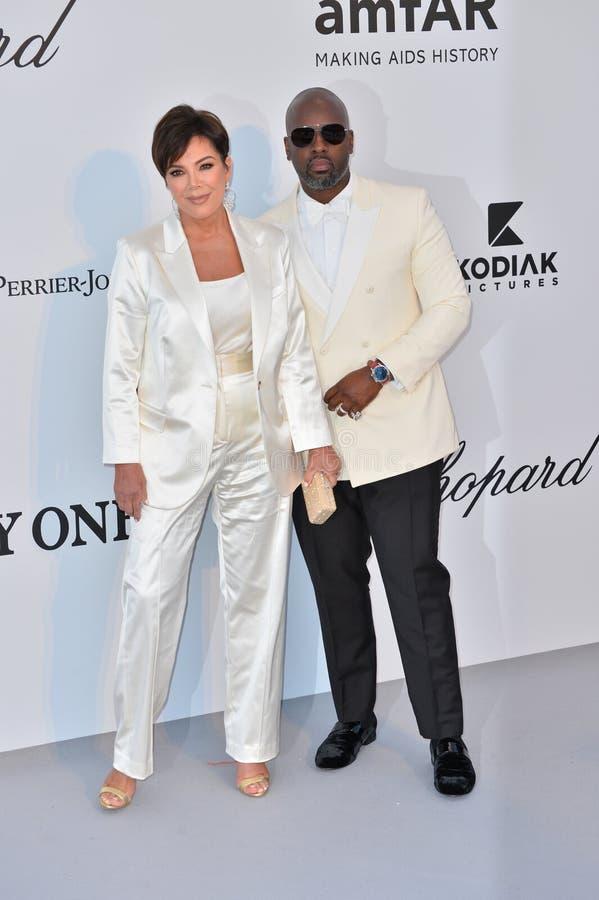 Kris Jenner & Corey Gamble imagem de stock royalty free