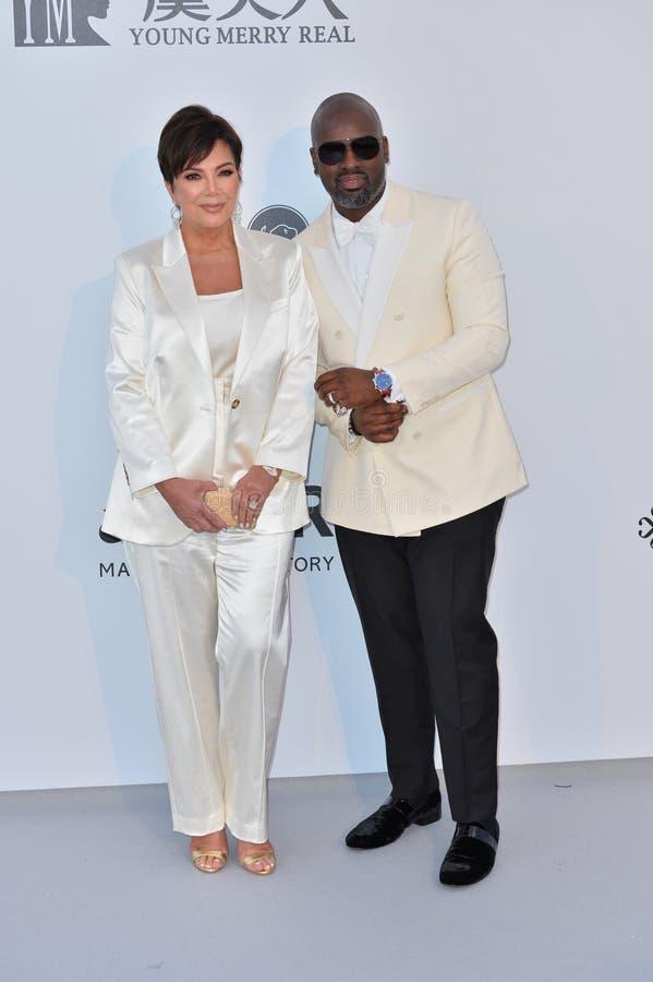 Kris Jenner & Corey Gamble foto de stock royalty free