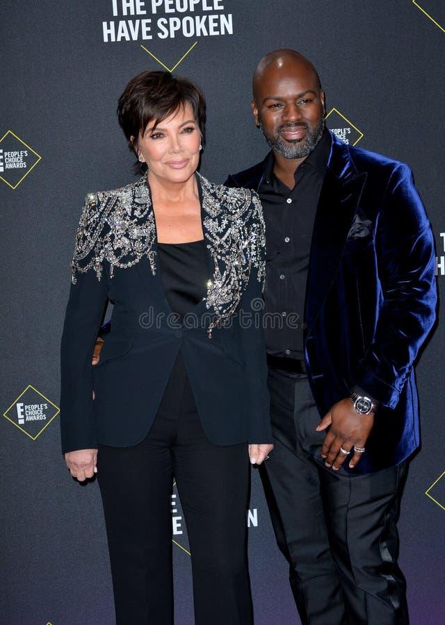 Kris Jenner & Corey Gamble imagens de stock royalty free