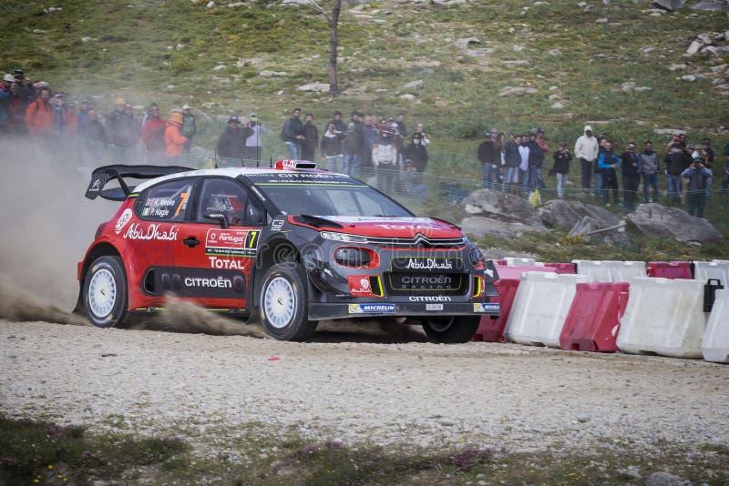Kris Meeke, Citroen C3 WRC immagini stock libere da diritti