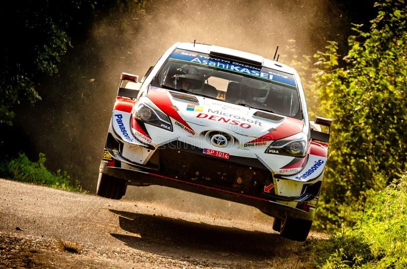 Kris Meeke and Sebastian Marshall at ADAC Rally Germany royalty free stock photos
