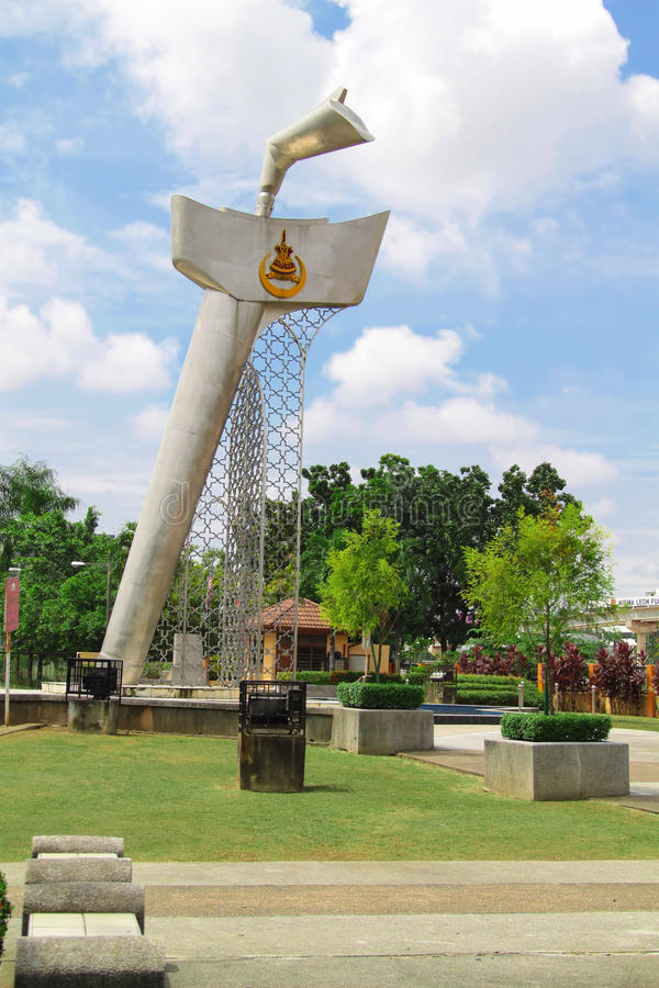 Kris monument som lokaliseras på Klang, Malaysia arkivfoto