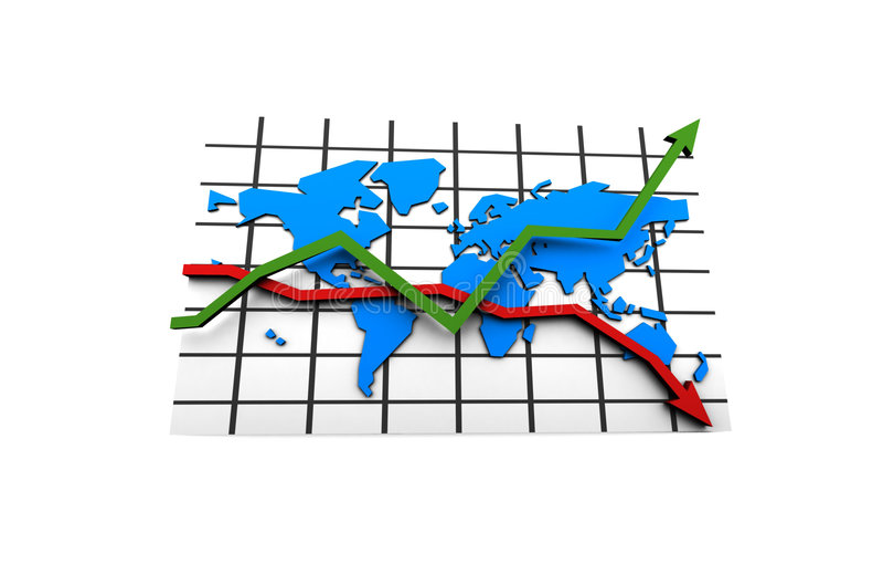 Krise in der Weltgeschäftsmöglichkeit lizenzfreie abbildung