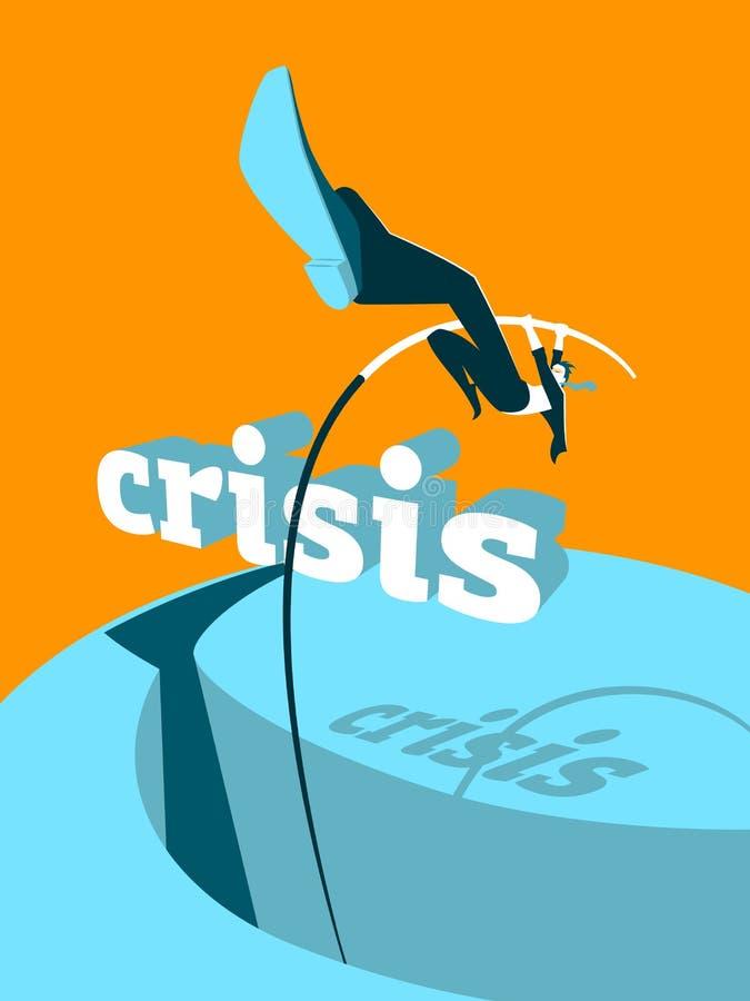 Krisenüberwindung lizenzfreie abbildung
