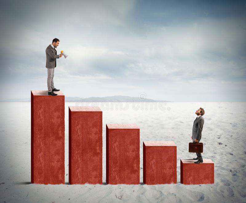 Krisenstatistik stockfoto