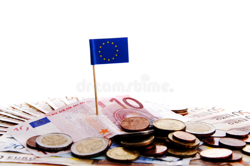 kriseuropeanpengar arkivbild