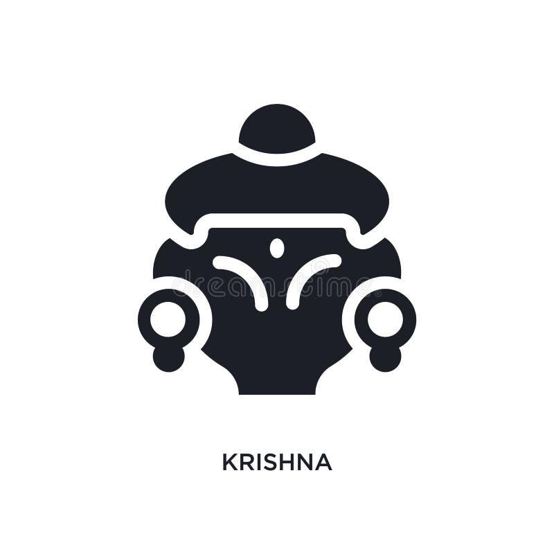 krishna被隔绝的象 从印度概念象的简单的元素例证 在白色的krishna编辑可能的商标标志标志设计 向量例证