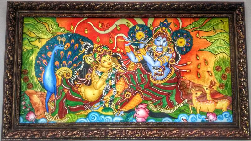 krishna avec le radha image libre de droits