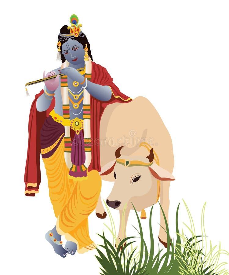 Krishna de seigneur illustration stock