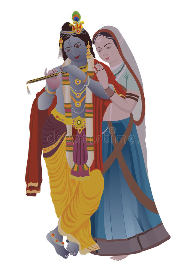 Krishna di Radha illustrazione vettoriale