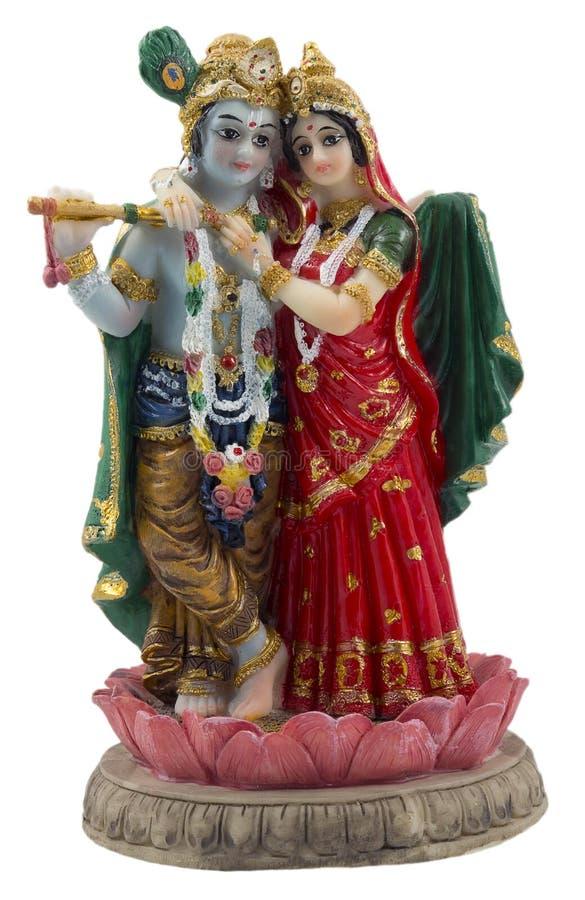 Krishna en Radha stock foto's