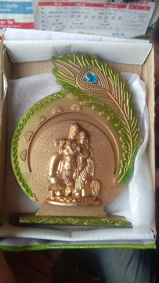 Krishna idian бог и отец стоковое фото rf
