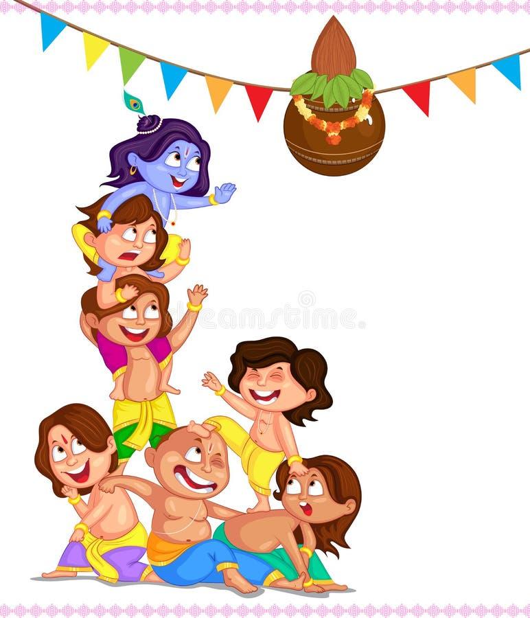 Krishna Janmashtami ilustração stock