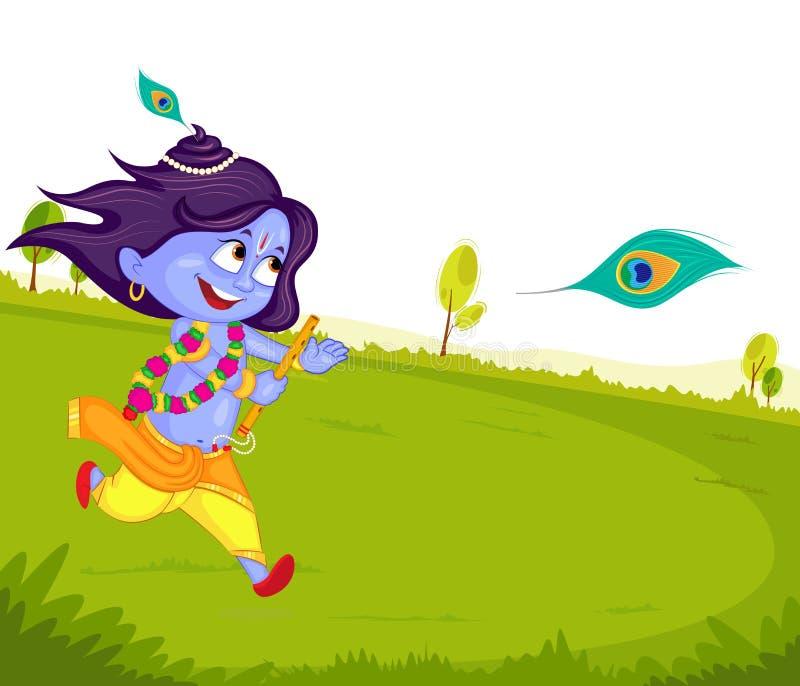 Krishna Janmashtami illustration libre de droits
