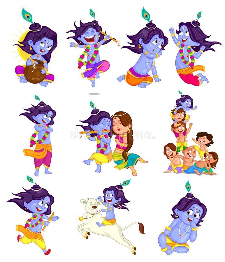 Krishna Janmashtami ilustração do vetor