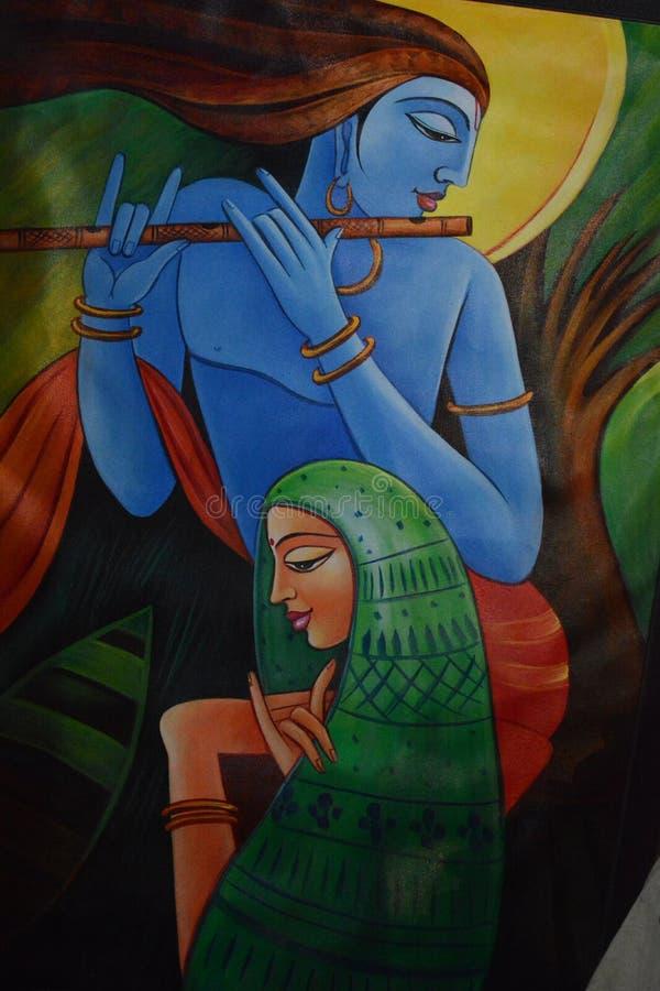 Krishna paiting zdjęcie stock