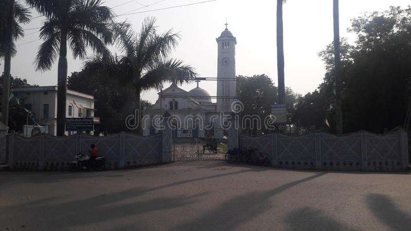 Krishnanagar Church in India stock foto