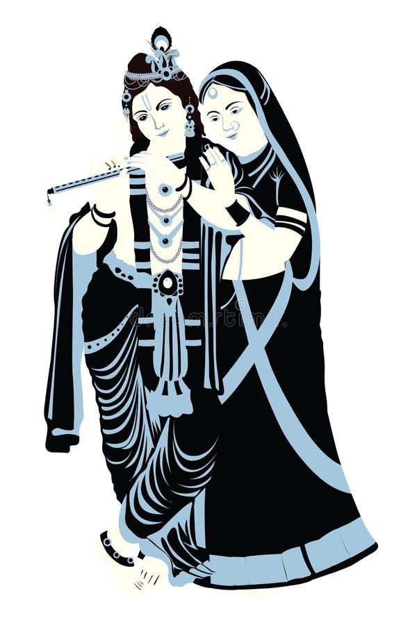 krishnaradha vektor illustrationer