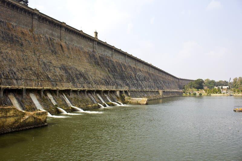 Krishnarajsagar水坝 库存图片