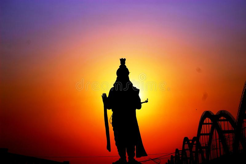 Krishnastandbeeld stock foto's