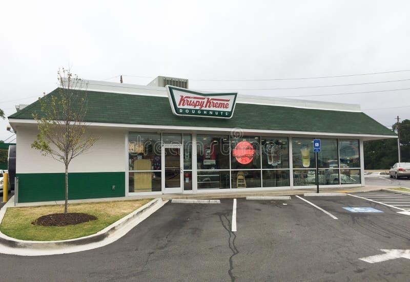 Krispy Kreme, Marietta, GA. Krispy Kreme doughnut shop located in Marietta, GA royalty free stock images