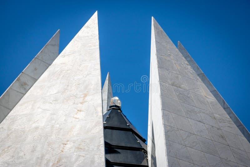 Kristal bovenop Tempel van Welwillendheid - de Boa van Templo DA Vontade - Brasilia, Federale Distrito, Brazilië royalty-vrije stock afbeelding