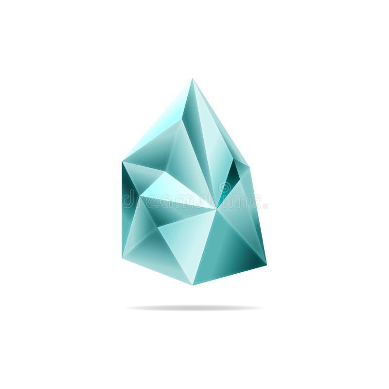 Kristal, een steenachtergrond Gemmen Vector De driehoek royalty-vrije illustratie