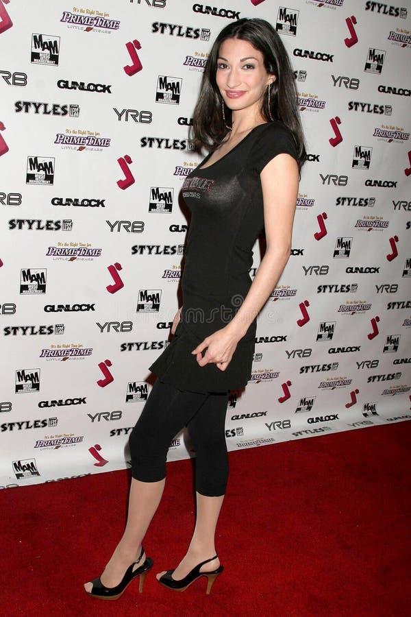 Kristal Mantecon bij de Partij van de Première van het Debuut van de Muziek J.Smith Video. Les Deux, Hollywood, CA. 02-25-09 stock foto