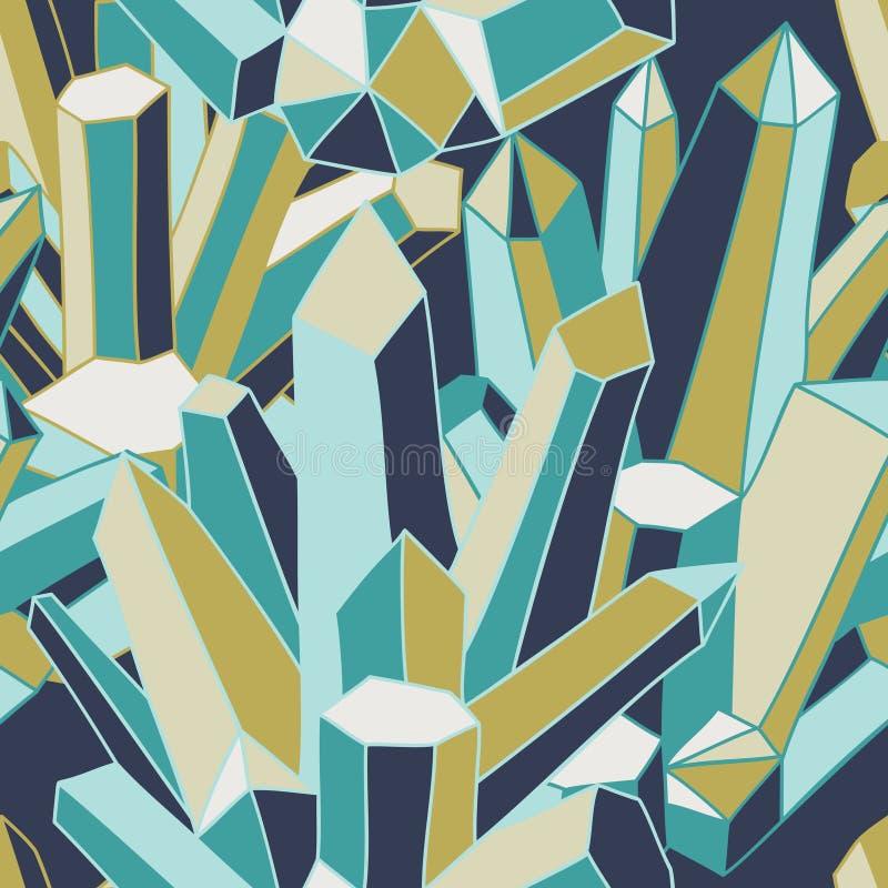Kristalhart - naadloos patroon vector illustratie