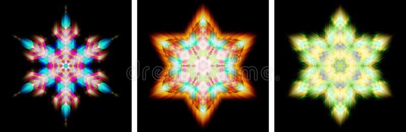 Kristall för snow för Kaleidoscopedesignnågot liknande royaltyfri illustrationer