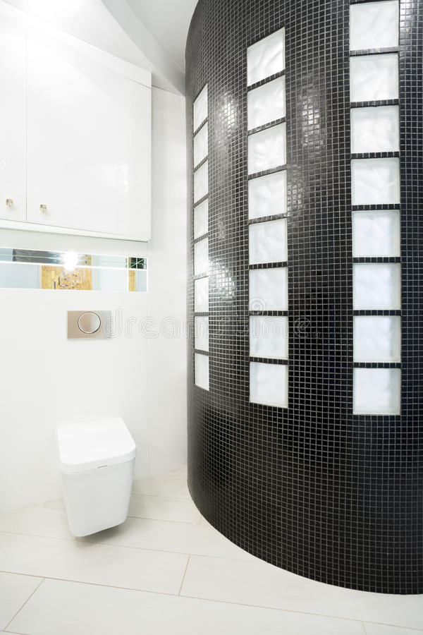 Kristall ljust badrum fotografering för bildbyråer