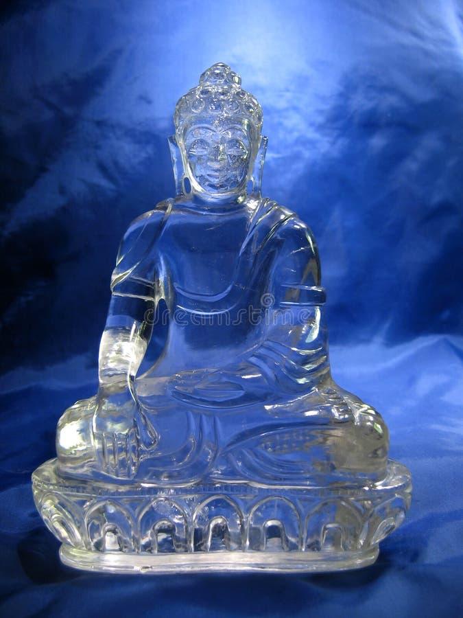 Kristallbuddha lizenzfreies stockfoto