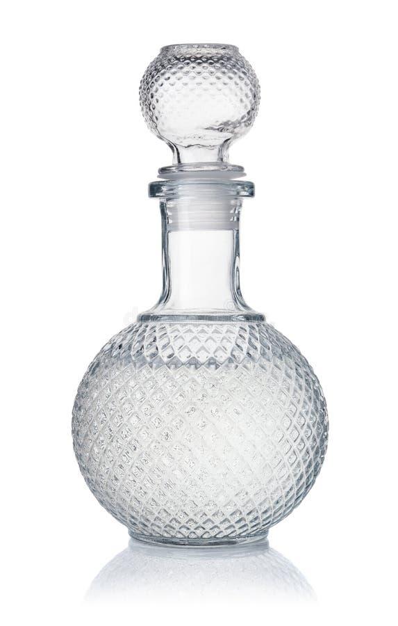 Kristalldekantiergefäß Wodka stockbild