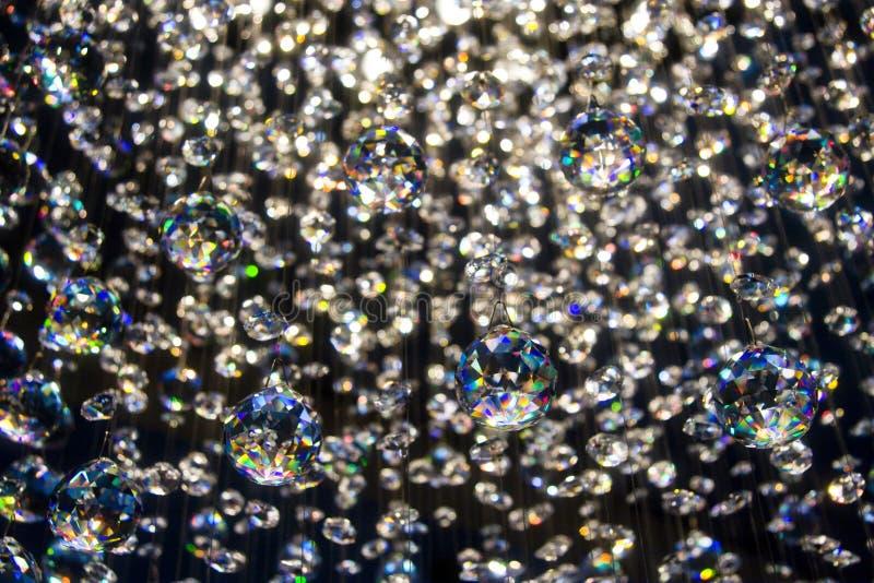 Kristalle, die helle Leuchte reflektieren lizenzfreies stockbild